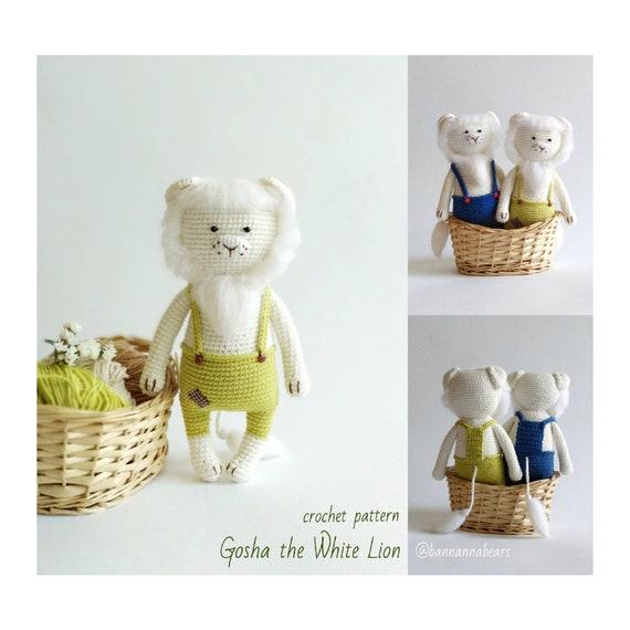 Crochet Lion Pattern Amigurumi Lion Toy Crochet Ami Pattern Etsy