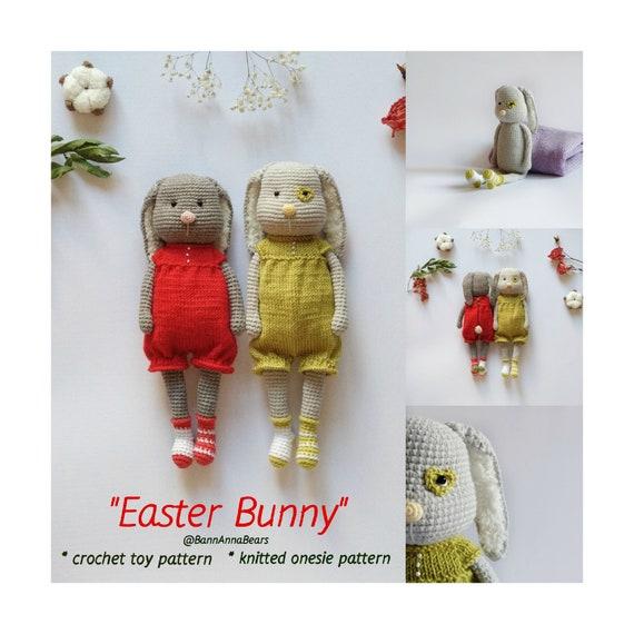 Amigurumi bunny pattern, Crochet easter bunny, Small rabbit, Spring easter  animal pdf, Large crochet bunny, Amigurumi farm animal, Twins toy