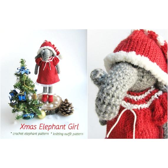 Crochet elephant toy pattern Amigurumi elephant pattern | Etsy