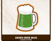 Green Beer Mug Cookie Cutter