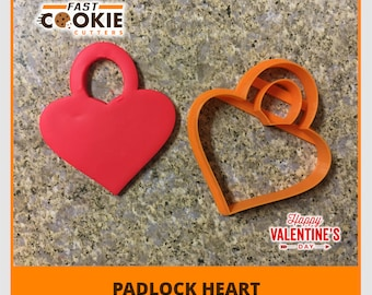 Padlock Heart Cookie Cutter