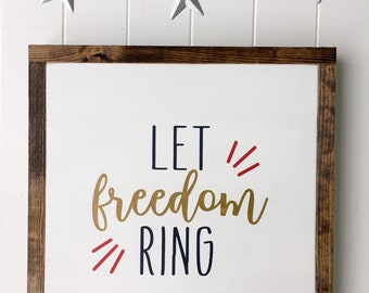 "Let Freedom Ring 13.5""x 13.5"""