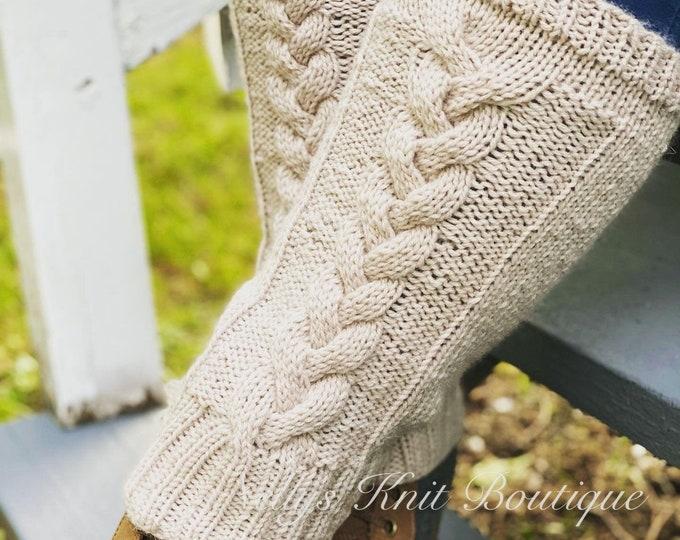 Women's knit leg warmers