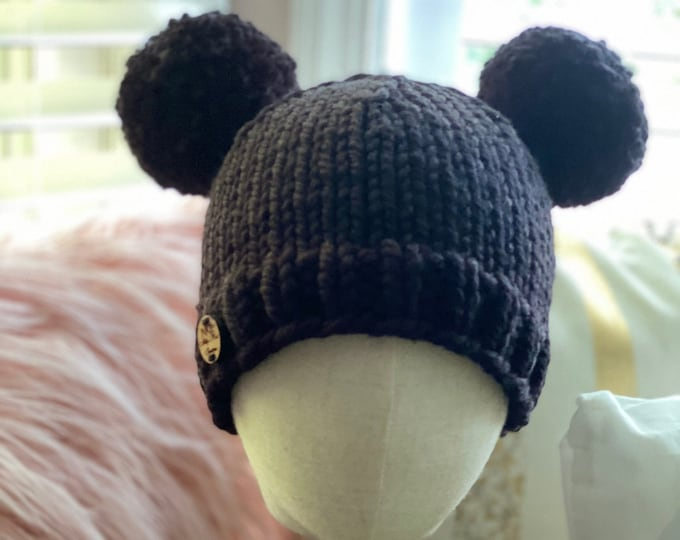 Chunky Beanie, Double Pom Hat, Winter Hat