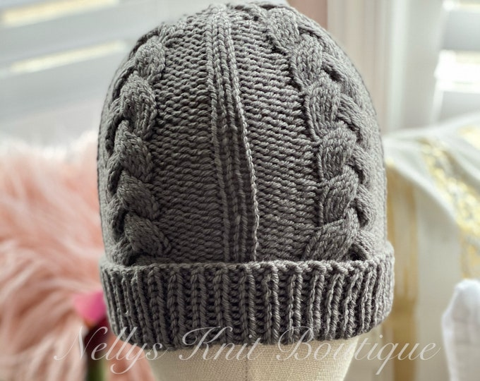 Men's knit hat, Men hat, Men's slouch hat, Men's Beanie