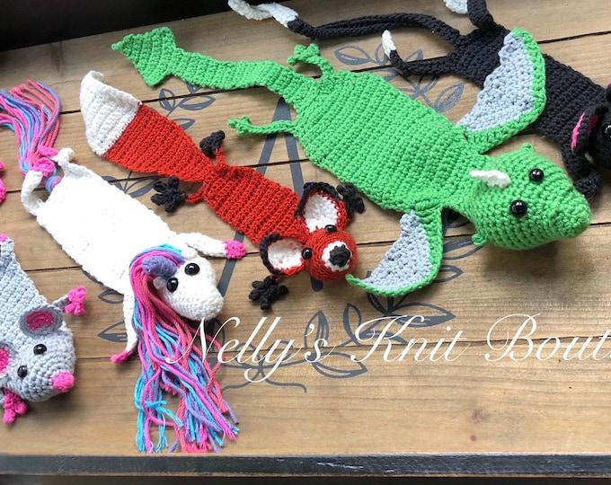 Crochet Animal Bookmarks, Bookmarks