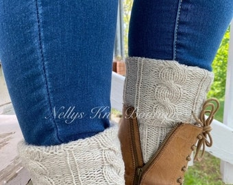 Fall & Halloween Sales Boot Cuffs, Knit Boot Toppers