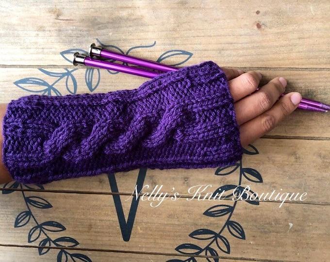 Knit winter Fingerless gloves