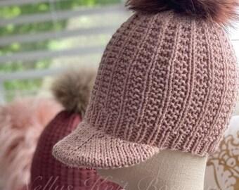 Fall & Halloween Sales Womens Winter knit brim hat