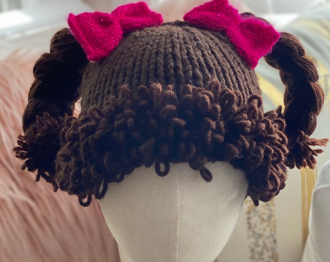 Cabbage Patch Costume hat, Cabbage Patch Knit Hat