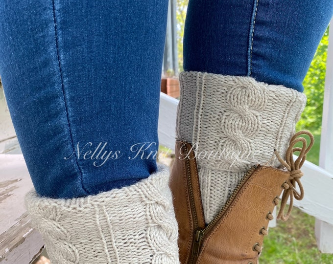 Boot Cuffs, Knit Boot Toppers