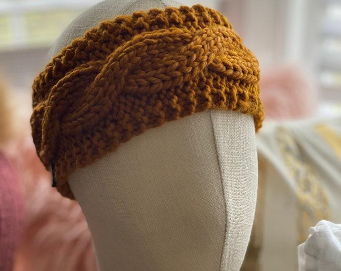 Winter Knit Ear Warmer Headband, Chunky knit Ear Warmer