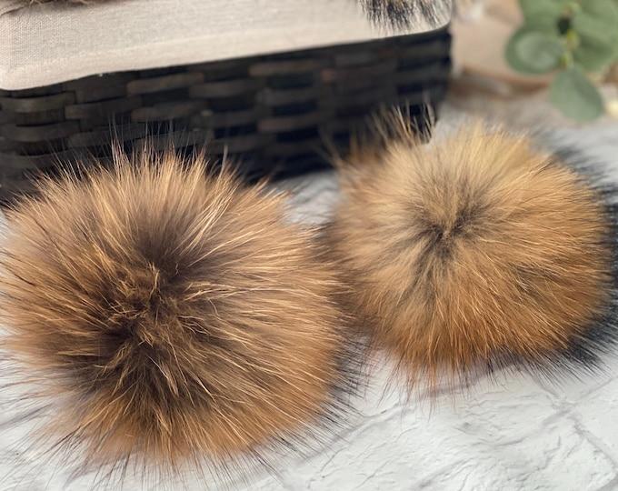 CHESTNUT SPICE- Fur Pom Poms