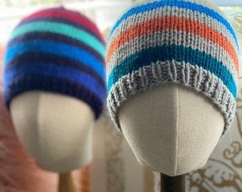 Fall & Halloween Sales Slouchy Beanie hat,  Striped Slouchy beanie Hat