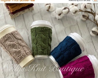 Fall & Halloween Sales Coffee Cup Cozy, Knit Cup Cozy