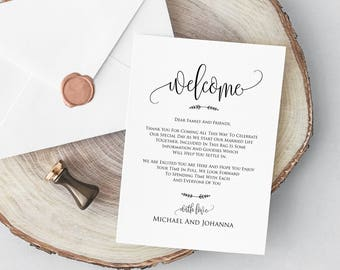 wedding welcome letter printable welcome card rustic welcome notes diy wedding letter welcome card welcome wedding bag note wsc_107