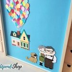 Carl and Ellie - Painting house UP - Frame disney pixar - House with balloons up! - Painting Carl & Ellie relacionship - Up Pixar