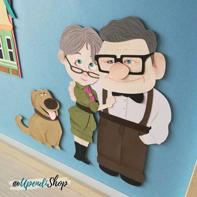 Carl Und Ellie Kader Haus Up Box Disney Pixar Haus Mit Ballons Oben Carl Ellie Tischdekoration Die Disney Pixar Up Paar Bis