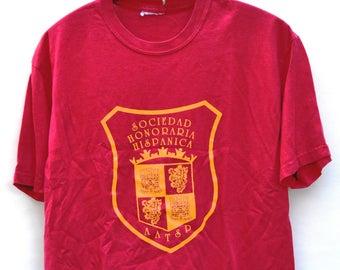 Sociedad Honoraria Hispanica AATSP Red T-Shirt