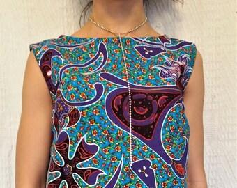 Ankara Cotton Wax African Print Short Sleeveless Top