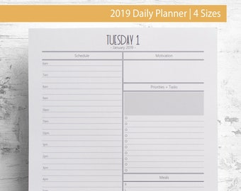 hourly planner etsy