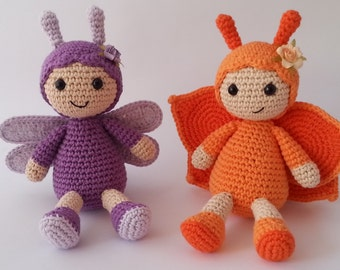 Butterfly and dragonfly · Amigurumi pattern
