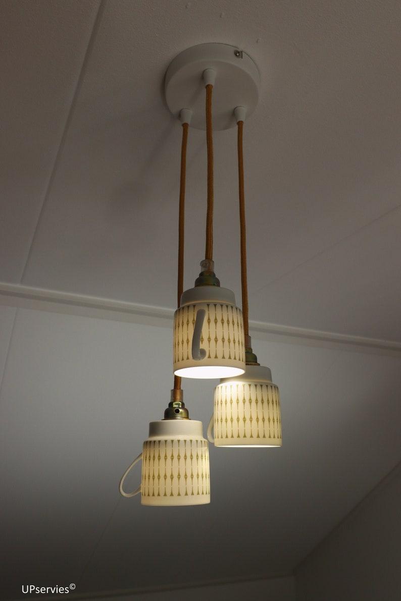 Vintage Melitta coffee cup pendant lighting image 0