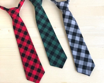 b44899417aa4 Boys Buffalo Plaid Ties, Red Checks Necktie, Buffalo Plaid Baby Boy, Buffalo  Plaid Newborn Boy, Buffalo Plaid Cake Smash, Plaid Baby Shower