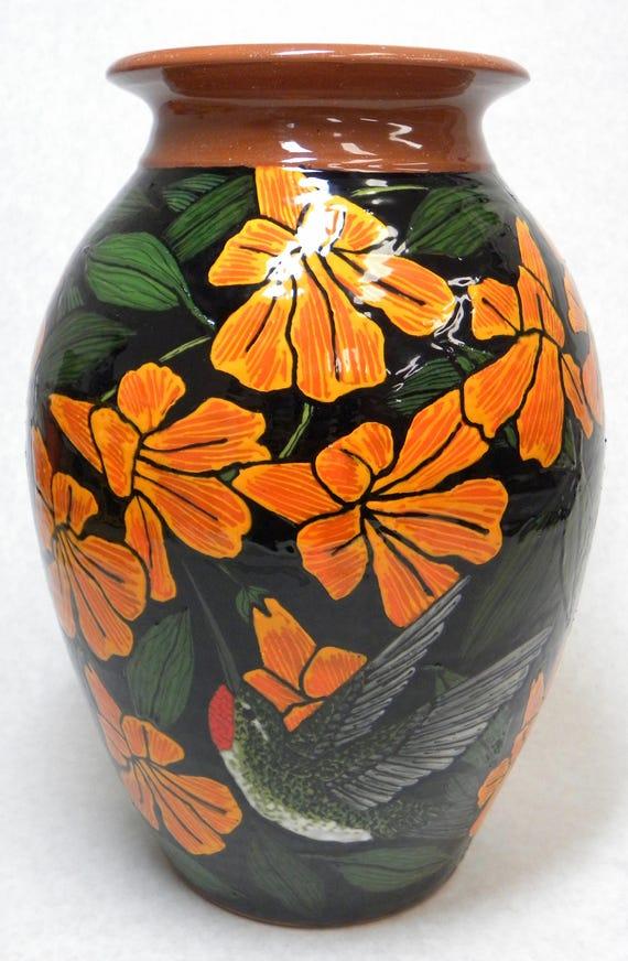 Hummingbird Vase Item27 Etsy