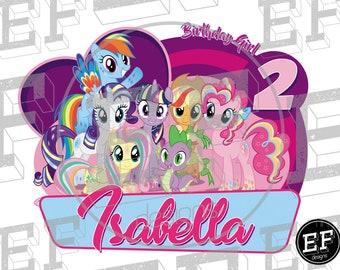 My Little Pony Birthday Shirt, My Little Pony Birthday Girl, My Little Pony party, My Little Pony. Shirt