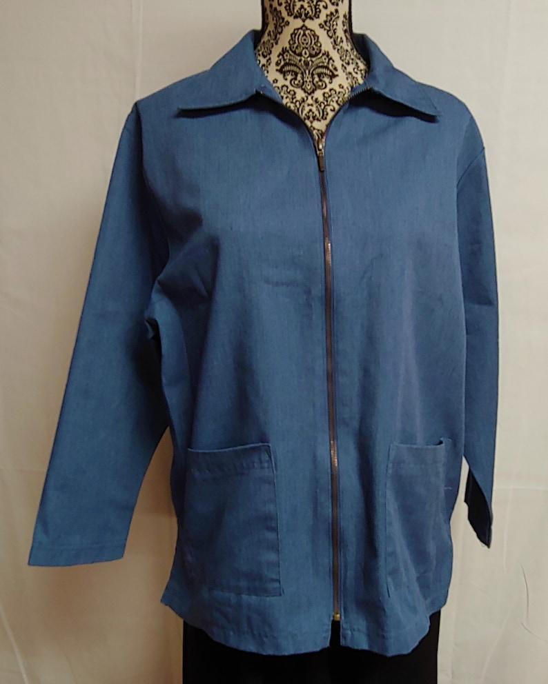 Women/'s Size Medium Petite Jacket Vintage Denim Jacket Vintage Clothing Vintage Womens BonWorth Size M Petite Denim Jacket with Zipper