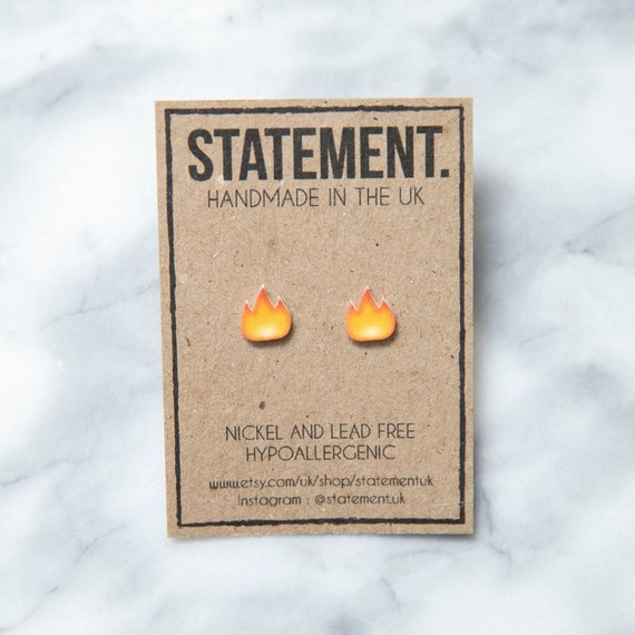 Fire / Hot / Lit / Snapstreak Emoji Stud Earrings - 1 pair