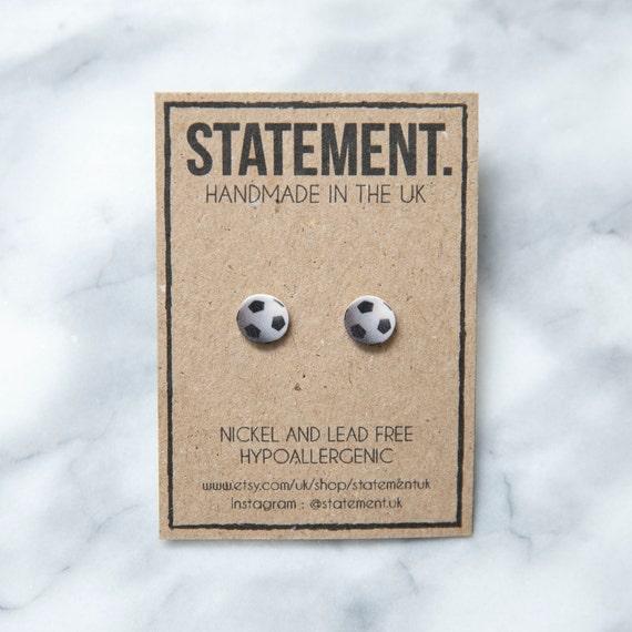 Football / Soccer Ball Sport World Cup Stud Earrings - 1 pair