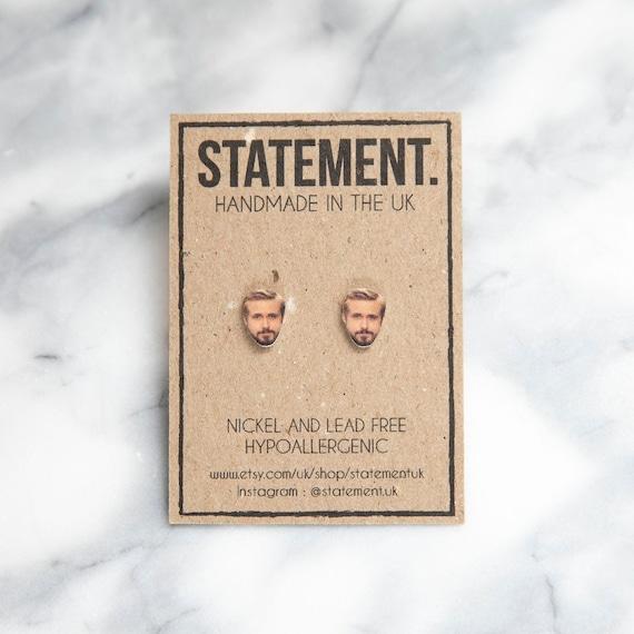 Ryan Gosling Actor / Celebrity Stud Earrings - 1 pair
