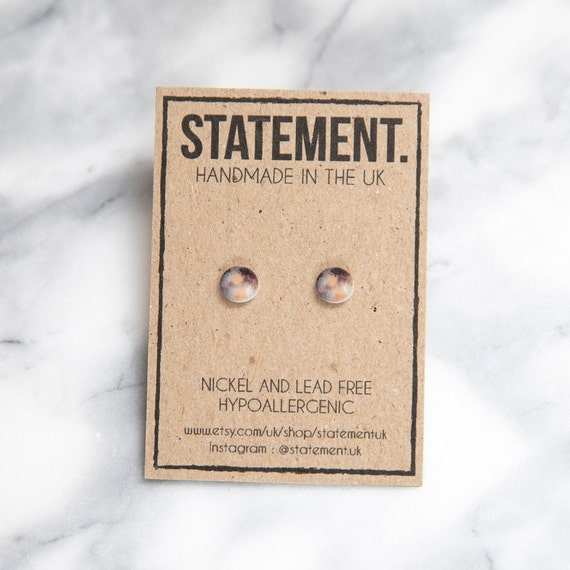 Pluto / Planet / Space / Solar System Stud Earrings - 1 pair