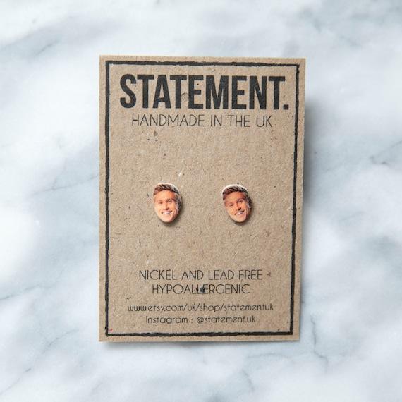 Russell Howard / Good News Comedian / Funny Guy / Celebrity / Celeb / Face / Head Stud Earrings - 1 pair
