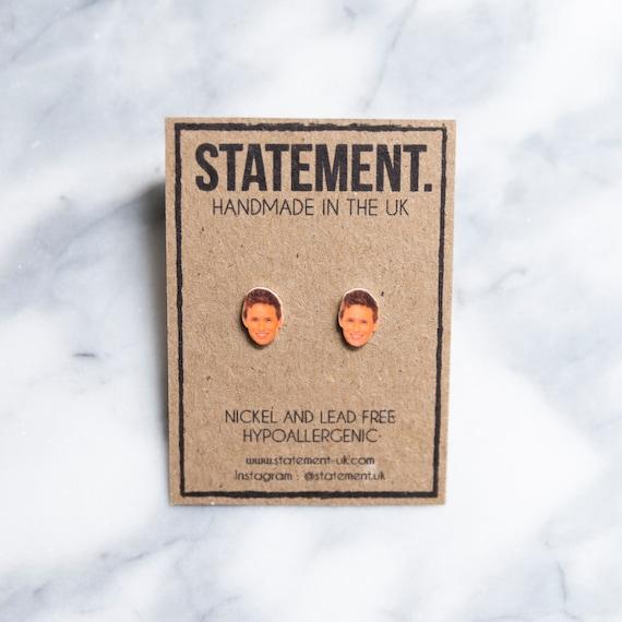 Eddie Redmayne Actor / Celebrity / Head / Face Stud Earrings - 1 pair