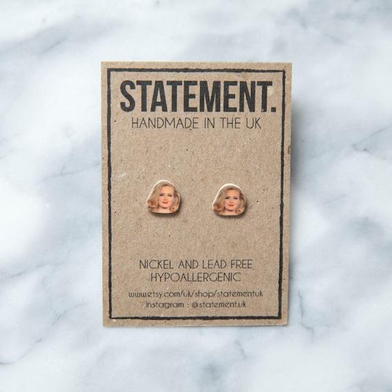 Adele Singer / Songwriter / Celebrity / Celeb Face / Head Stud Earrings - 1 pair