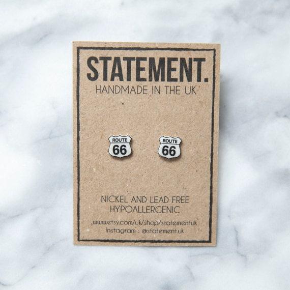 Route 66 American / USA Stud Earrings - 1 pair