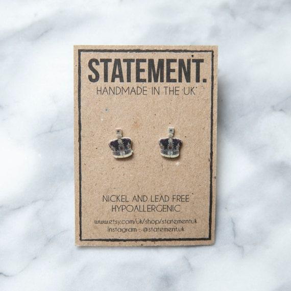 Crown of Jewels Stud Earrings - 1 pair