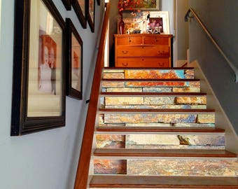 Merveilleux 3D Stone Decoration Adhesive Vinyl Stair Riser Panels Stairs Risers Sticker  Mural Photo Mural Vinyl Decal Wallpaper Removable