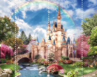 Extra Large Wallpaper 93 H X 159 W 236cm 404cm Princess Castle Kids Vinyl Exclusive Design