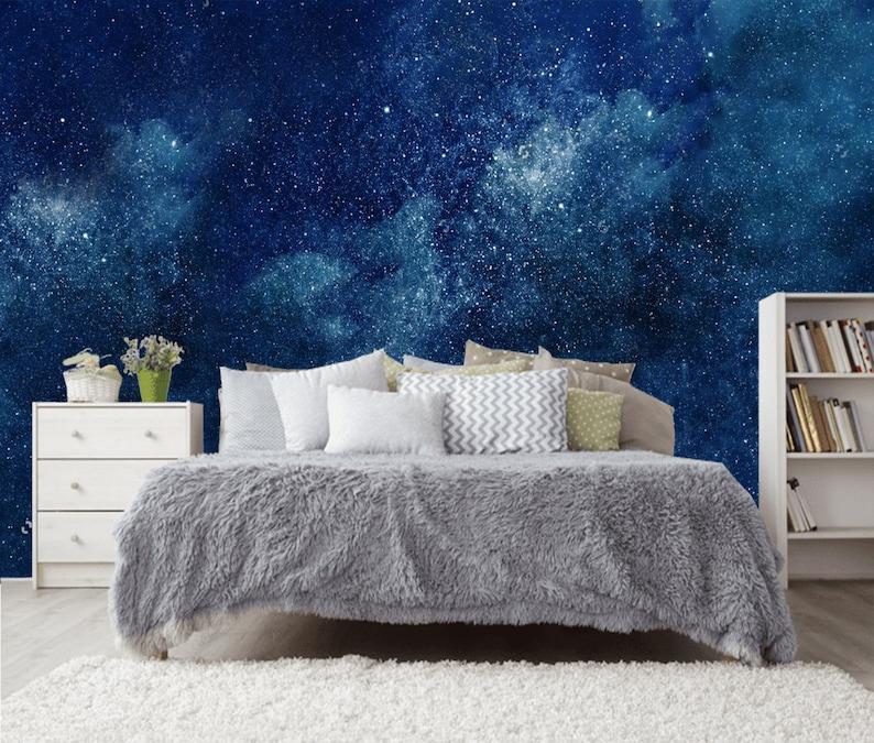 Espace Nuit Ciel Univers Etoiles Champ Plafond Pour Enfant Etsy