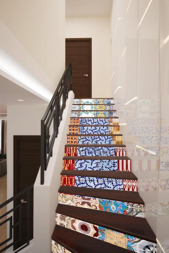 Portuguese Stairway Decoration Adhesive Vinyl Stair Riser | Etsy