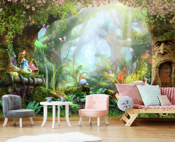 Magic Wood Kids Wallpaper Fairytale Town Room Sticker