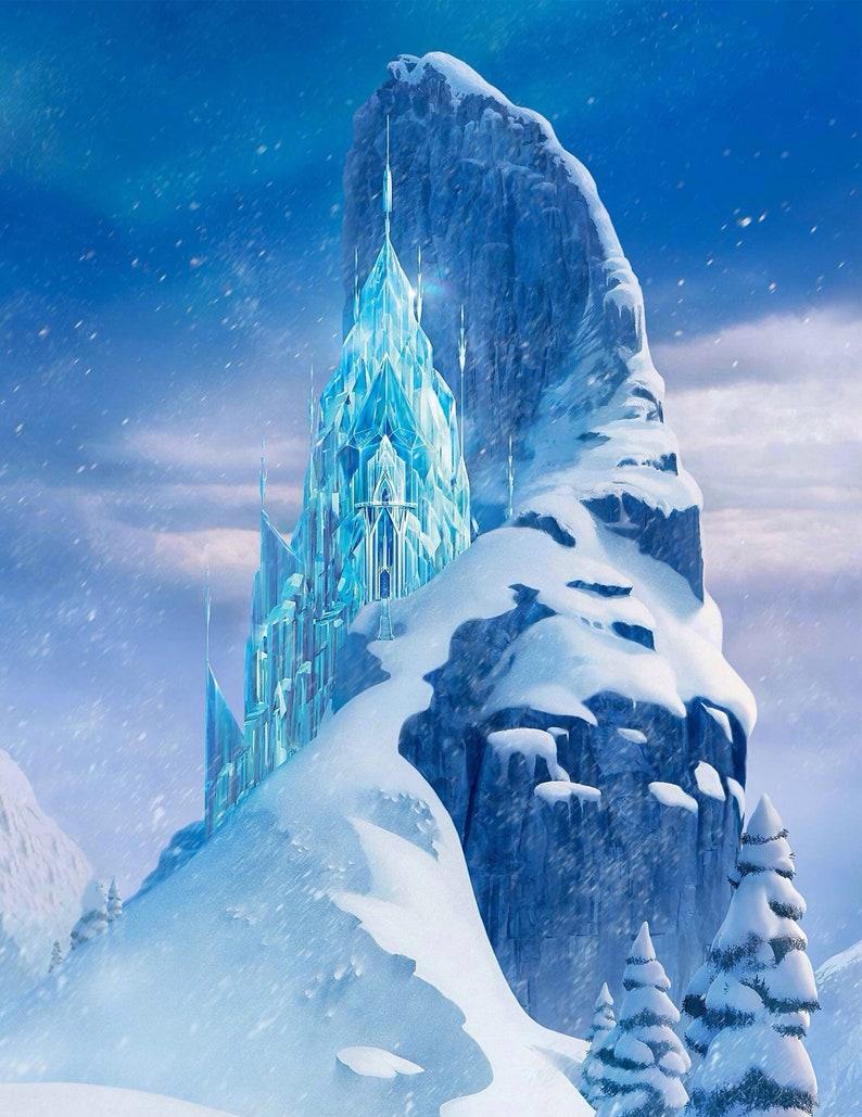 Gefrorene Schloss Tapete Elsa Castle Wand Aufkleber Baby image 0