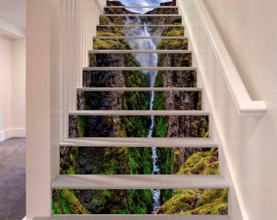 Waterval trap decoratie zelfklevend vinyl trap riser panelen etsy