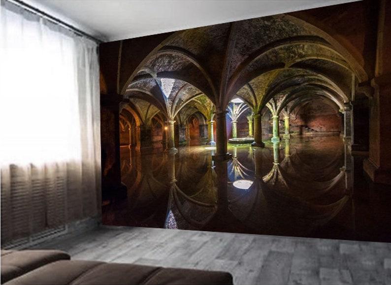 Stenen Muur Vernissen : Gotische kasteel oude bakstenen muur gotische zaal weergave etsy