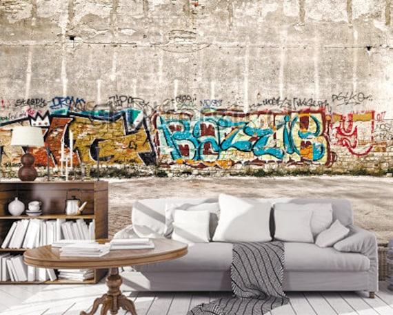Graffiti Art Brick Wallpaper 3d Wall Sticker Wall Decor Graffiti Street Art 3d Wall Mural Self Adhesive Exclusive Design 3d Photowallpaper
