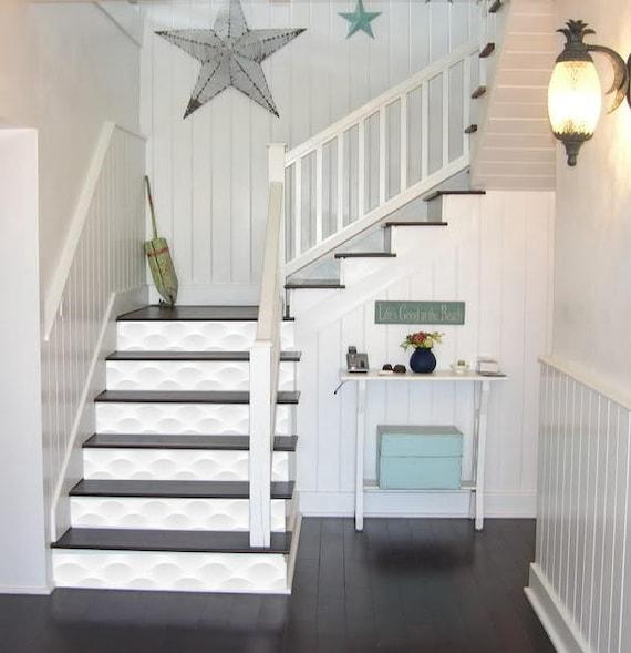 3D Waves Stairway Decoration Adhesive Vinyl Stair Riser Panels | Etsy